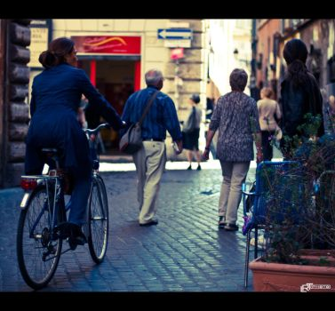 Rome is magic in bicycle by vortex46