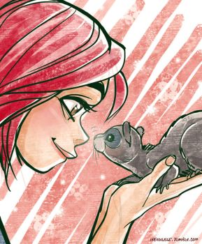 Will and her hamster which I don't remeber by ipercalisse