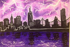 ACEO: Electricity by DanielleMWilliams