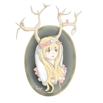 Deer rabbit girl thing by locomore