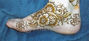 Henna Foot Flower - paste by flowerwills