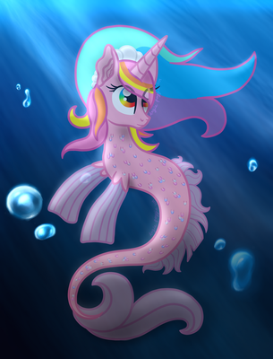 Evening Sea Pony by AngiePeggy2114