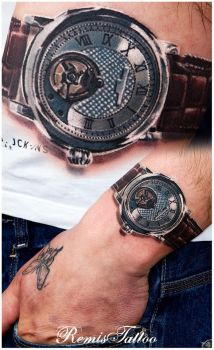 relistic tattoo Frederique Constant by Remistattoo