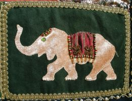 India inspired wall hanging - Detail 12 by RevelloDrive1630