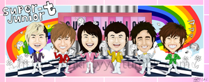 Super Junior T Caricatures by ohkittyyy