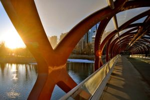 morning peace bridge by joshuahartesq