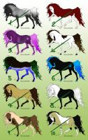 Horse Adoptables 3 - OPEN by SilviasDesires