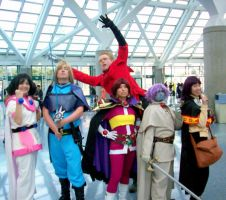 AX2008 Day 2 - Group + Vash by elfgrove