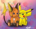 :Commission: PokeCouple by GuardianOfTheFlame