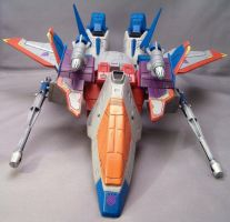 Anime Starscream Fighter Mode by Shinobitron