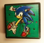 Sonic the Hedgehog clock by desertpenguin