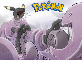 Muk Tickles Umbreon