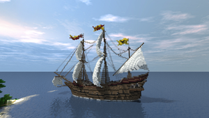 Spanish Galleon by Sillouete