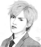 Kris Wu Pencil Sketch by eftela
