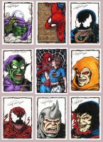 Spider-Man Sketch cards by tonyperna
