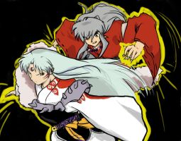 Inuyasha and Sesshomaru by macswake