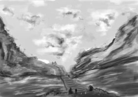 Valley Bridge Concept by ThomasBrettRussell