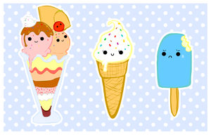 cute foods - frozen selection by purapea