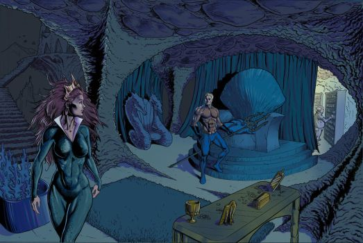 Aquaman's Throne Room Color 2 by craigcermak