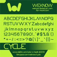 cycle font by weknow by weknow