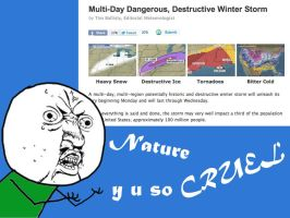 Nature, Y U So CRUEL by Grimful
