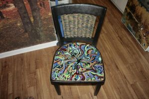 Chair I painted for a friend by TravisBrandl