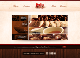 Italia Caffetteria Website by think0