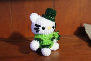 St. Patrick's Day Hello Kitty by CraftedKansas