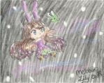 [3DS] Alien Bunny Floating in Space [ArtAcademy] by MeloBunii