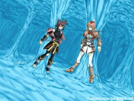 COM : Seena and Nan chained in Ice Dungeon by whiteguardian