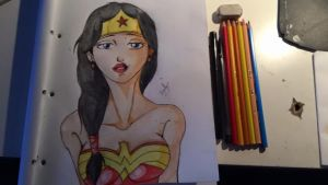 Wonder woman drawing by xdhuntxd