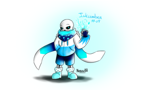 Inkcember 9 - Ice!Sans by Nabuco88