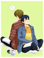 MakoHaru - Reading together by Hanatsuki89