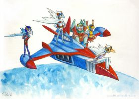 Battle of the Planets of Gatchaman G-Force by matthewart