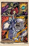 Savage Conquest page poster print 2 by ChrisFaccone