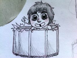 Keith Moon in a drum by greengal14