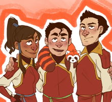 TEAM FIRE FERRETS by AgentDax