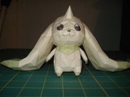 Terriermon Papercraft by MiiChan-desu