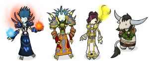 Warcraft Chibis Set3 by DivineTofu