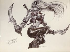 Mercenary Katarina by inhibitus