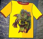 Ra the Golden Griffin Warrior T-Shirt by KambalPinoy