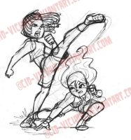 Sketch - High Kick by Cid-Vicious