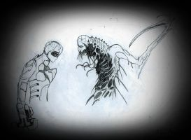 isaac vs necromorph. by bloodypenalper