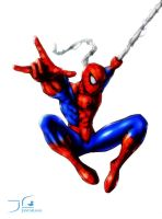 Swinging Spiderman by dukwax