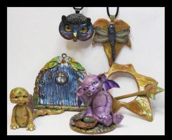 Fairy Door Littles Creatures Kroulies and more by KabiDesigns