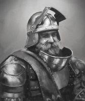 Knight Portrait by jackfrozz