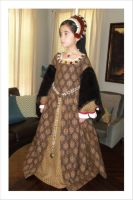 Child's Brown Tudor Dress and French Hood by PeacockandPeridot