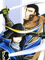 Masamune and Kojuro by ploua