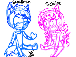 .:RQ:. Sebastian and Schone~ by Fwooah