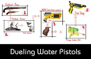Dueling Water Pistols Presentation Board 1 by all-one-line